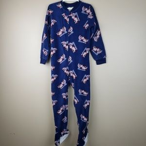 EUC WonderKids Fleece Onsie Pajamas, size 5T